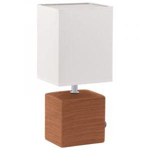 Mert tafellamp lampenvoet van keramiek bruin