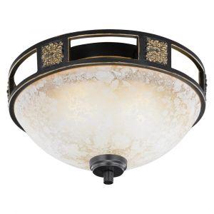 Letchworth plafondlamp, metaal en glas, klassiek