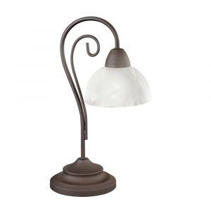 Witte, marmeren tafellamp Jared