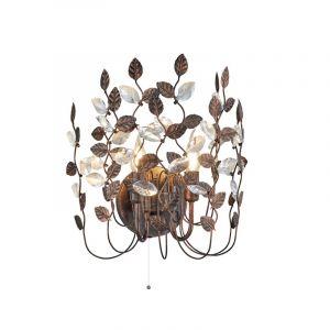 Design wandlamp Charlotte, Roestkleur Antiek