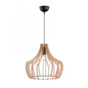 Moderne, Landelijke Hanglamp Valena - Houtkleur