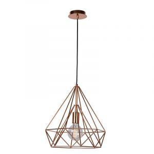 Ricky hanglamp, Koper kleurig, stalen frame