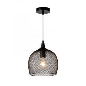 Retro hanglamp Mesh, Zwart