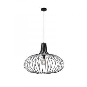 Zwarte hanglamp Manuela, Metaal