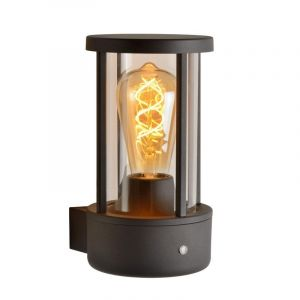 Antraciet wandlamp Lori, Cilinder