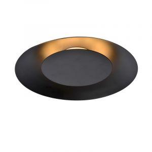 Zwarte plafonniere Foskal, Rond