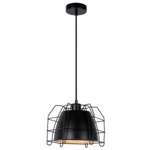 Moderne hanglamp Grid, Zwart en Zilver