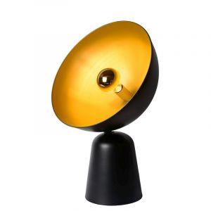 Retro tafellamp Vidor, Zwart en Goud
