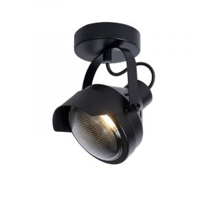 Industriele plafondlamp Cicleta, Zwart