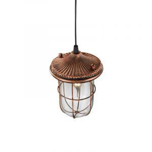 Bern hanglamp, glas, koper