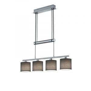 Moderne Hanglamp X'Jeaneysha-Treangelys - Nikkel Mat, Grijs