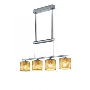 Moderne Hanglamp Xabienne - Nikkel Mat, Goud