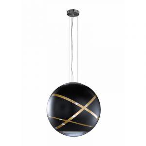 Chroom hanglamp Armano, Metaal,Glas