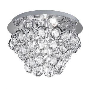 Macclesfield plafondlamp, chroom en acryl