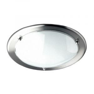 Eastbourne plafondlamp, metaal en glas, rond