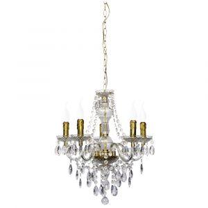 Messing, transparant, acryl, hanglamp Han