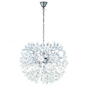 Wit, chrome, hanglamp Tierra