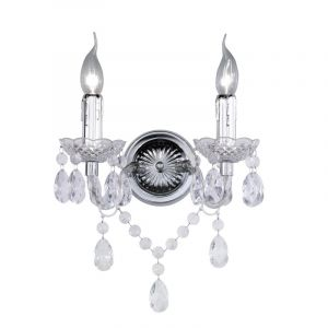 Leona klassieke wandlamp, transparant