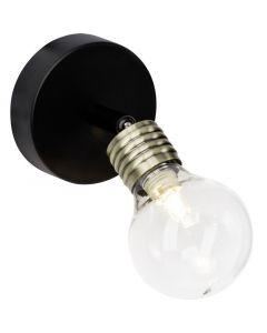 Design wandlamp Adelle, Messing en Zwart