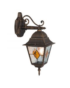 Zwarte Goudkleurige buiten wandlamp Zooey