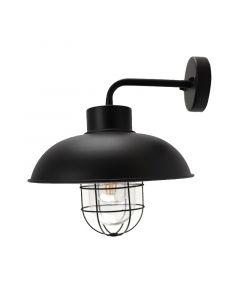 Landelijke, Industriële Buitenlamp Jaymie - Zwart
