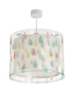 Gekleurde regendruppel hanglamp kinderkamer