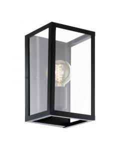 Landelijke Glazen Zwarte Transparante wandlamp Jalisa