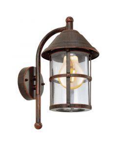 Gisele buitenlamp gegalvaniseerd staal gegoten aluminium antiek-bruin