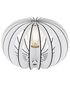 Stalen tafellamp Kiran wit