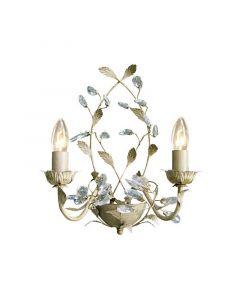 Landelijke Jeftha wandlamp, beige/goud
