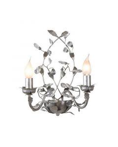 Jeftha wandlamp zilver, landelijk design