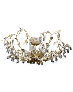Sidney II plafondlamp, beige en goud