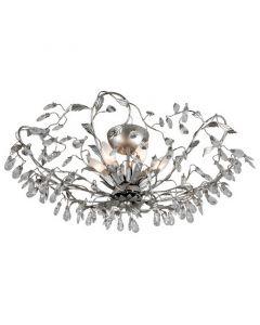 Zilveren Sidney II design plafondlamp