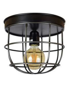Brede kooi plafondlamp Nova, Vintage look