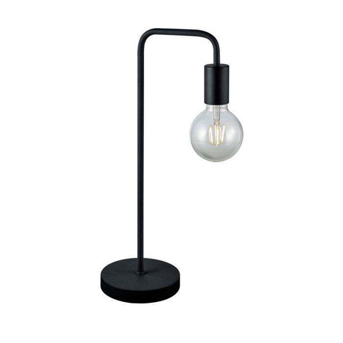 Mat Zwarte tafellamp Lund, Metaal