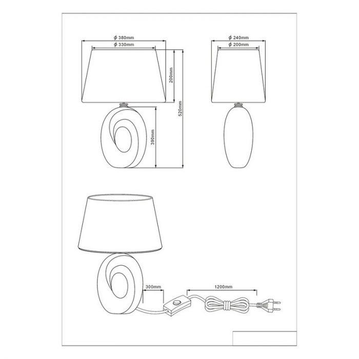 Gouden tafellamp Moldrup, Keramiek
