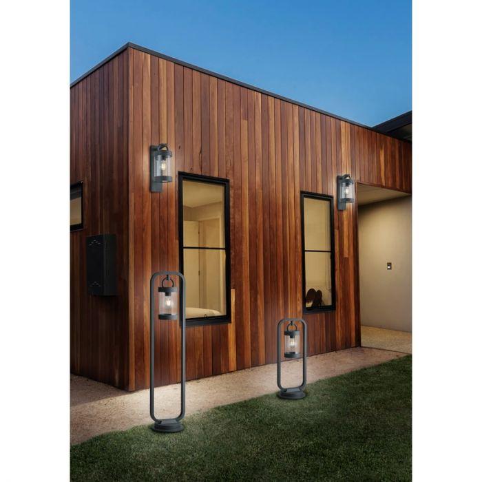 Antraciet schemersensor buitenlamp Sambesi, Modern