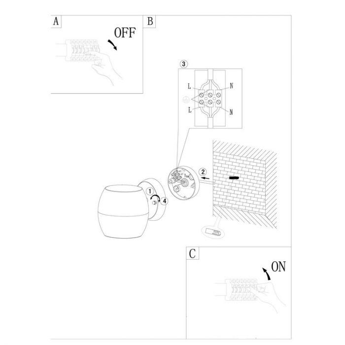 Barrie buitenlamp - Roestvast Staal