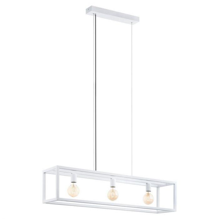 Moderne hanglamp Jaxx Staal Wit
