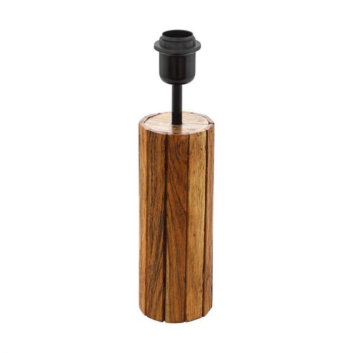 Landelijke tafellamp Jayvano Hout/Staal Bruin/Zwart