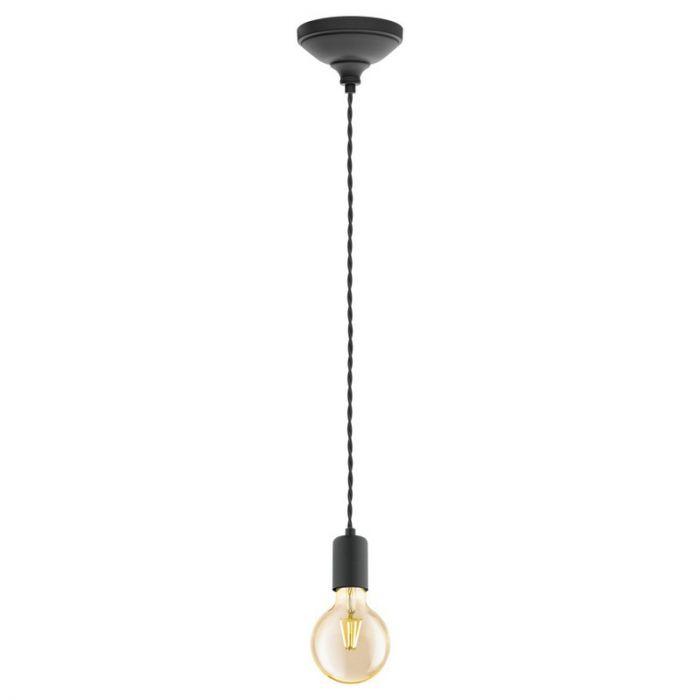 Stalen hanglamp Christel zwart