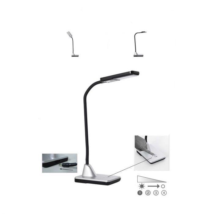 Moderne bureaulamp Feline, Wit