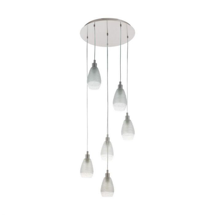 Stalen hanglamp Kik nikkel