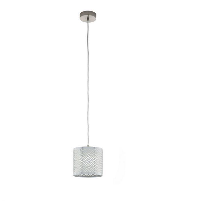 Stalen hanglamp Kees nikkel