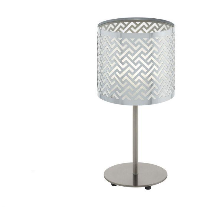 Stalen tafellamp Kees nikkel