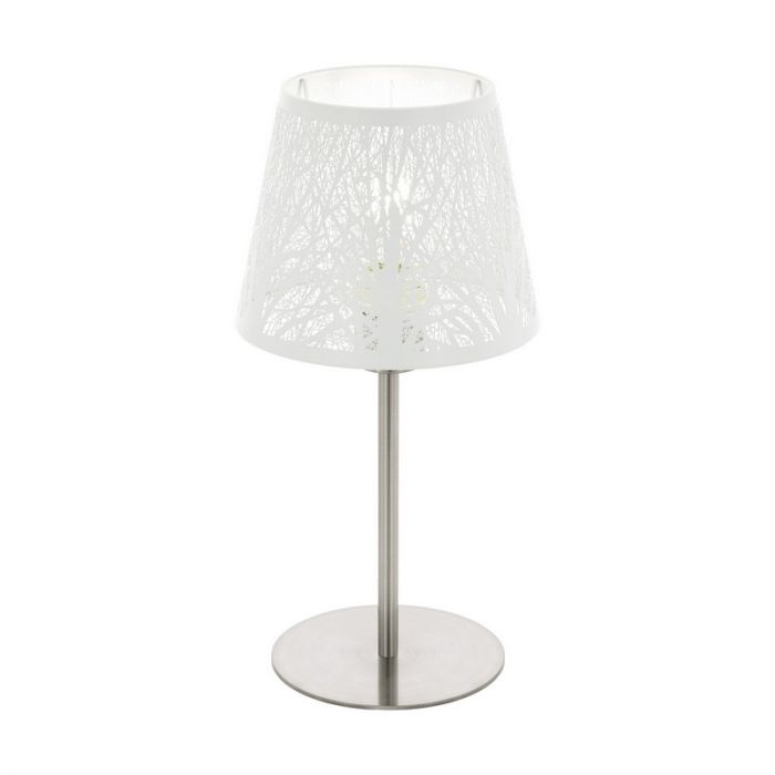 Stalen tafellamp Nika nikkel