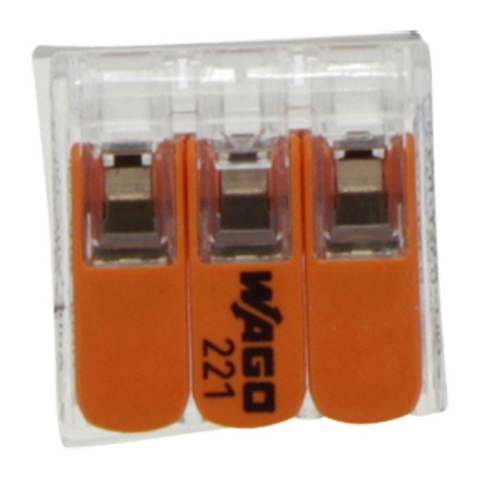 Wago Lasklem 3-Gats 4mm, hersluitbaar
