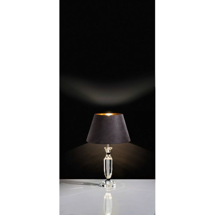 Kristal tafellamp Isha chroom