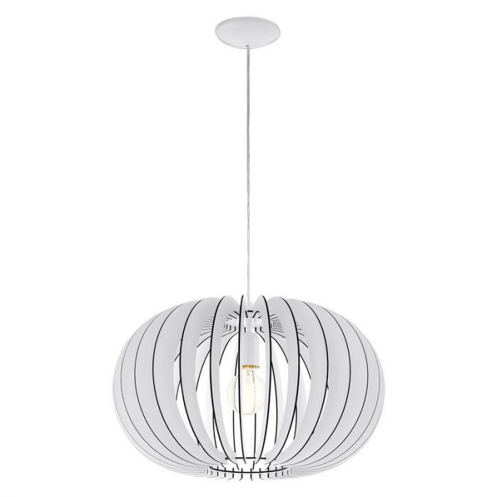 Stalen hanglamp Kiran wit