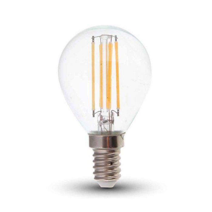 Tekalux Sorna E14 LED filament kogellamp, 3,5w warm wit, dimbaar